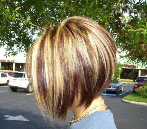 Asymmetrical Short Bob Haircuts 2017 With Two Tone