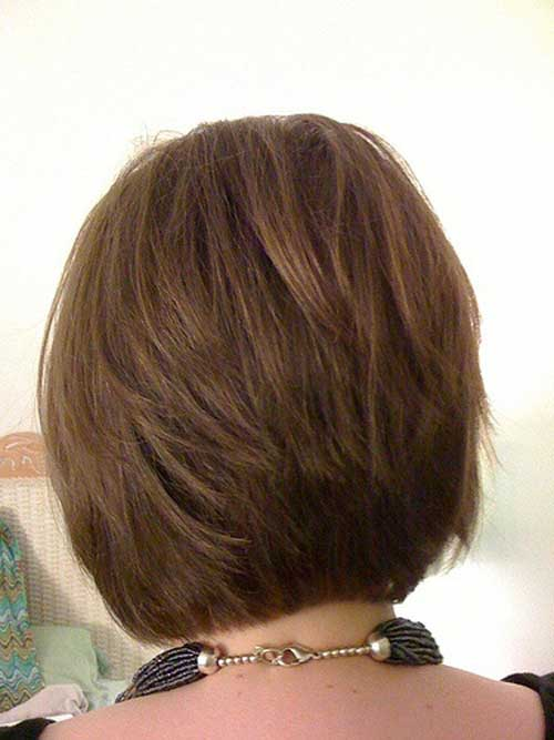 Back View Shoulder Length Layered Haircuts For Thick Hair 94