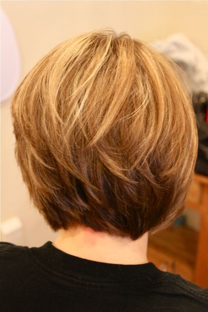 Back View of Stacked Bob Hairstyles