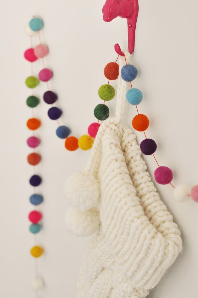ball garland for wall art