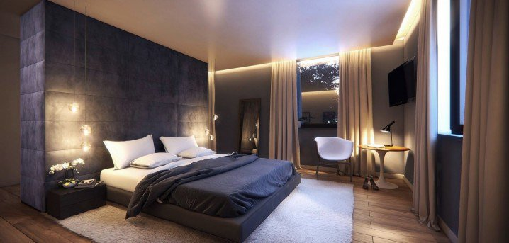 12 bedroom designs with wooden floor pretty designs - Lampade camera da letto moderna ...