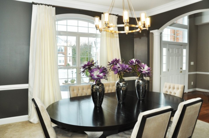 Black and White Tufted Chairs