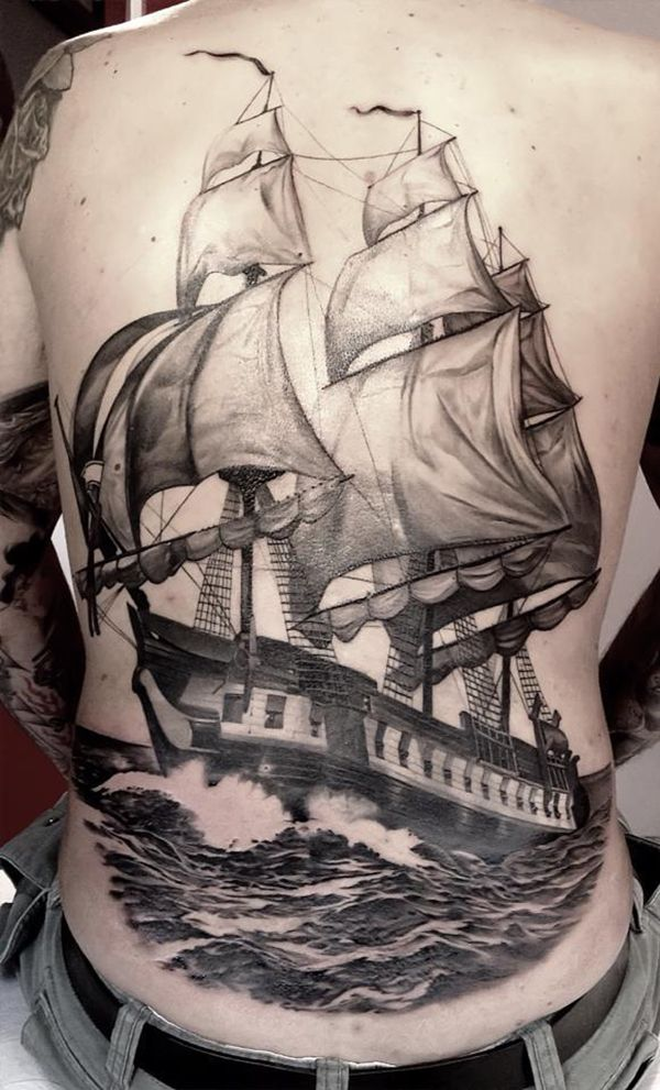 Boat Back Tattoo