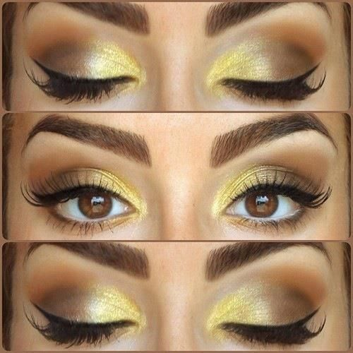 Bronze and Yellow Makeup