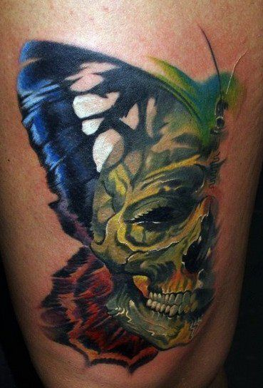 12 Watercolor Skull Tattoo Designs - Pretty Designs