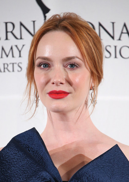 Christina Hendricks Blonde Updo