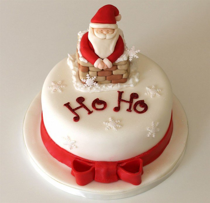 Christmas Cake Idea-Cute Santa Claus