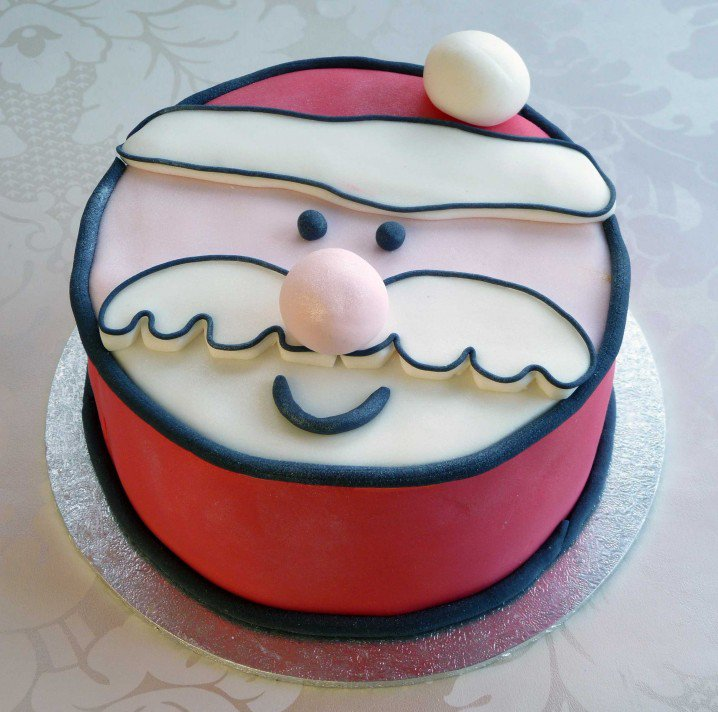 Christmas Cake Idea-Face