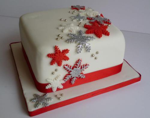 Christmas Cake Idea-Pretty Snowflake