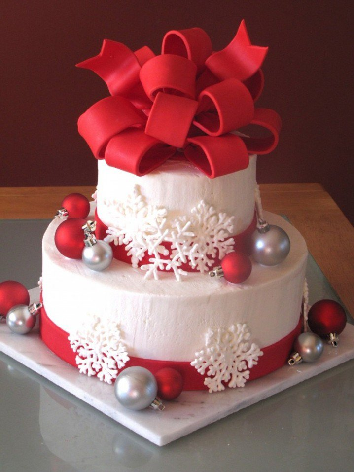Christmas Cake Idea-Snow