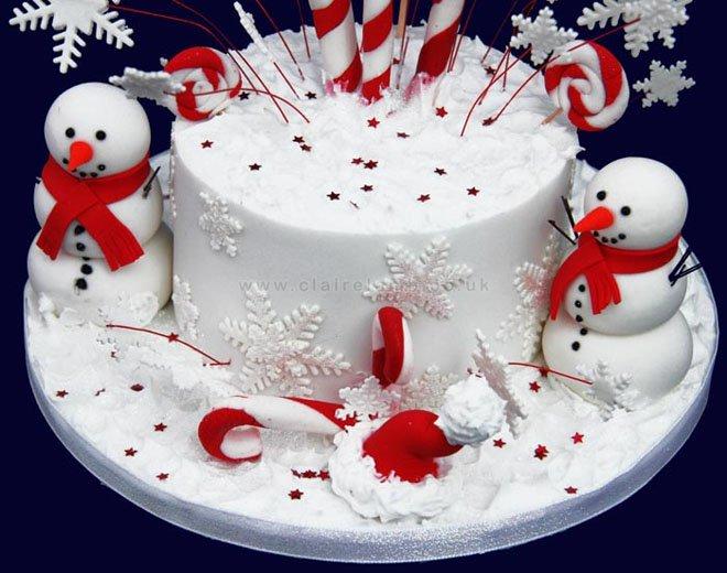 Christmas Cake Idea-Snowman