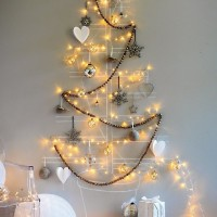 Christmas Tree Lights on Wall