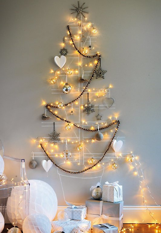 Christmas Tree Lights On Wall