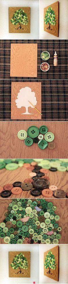 DIY Button Wall Art