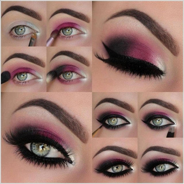 Dark Purple Eye Makeup