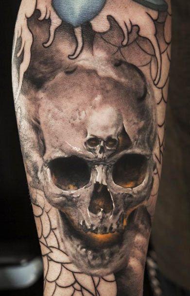 Double Skull Tattoo