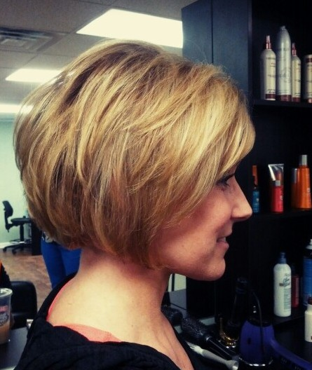 Easy Short Stacked Bob Hairstyles For S