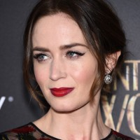 Emily Blunt Loose Updo