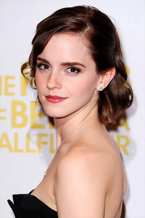 Emma Watson Curly Bob without Bangs