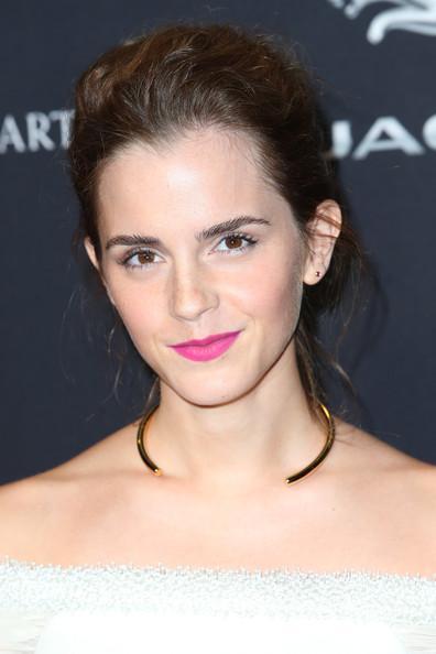 Emma Watson Messy Updo