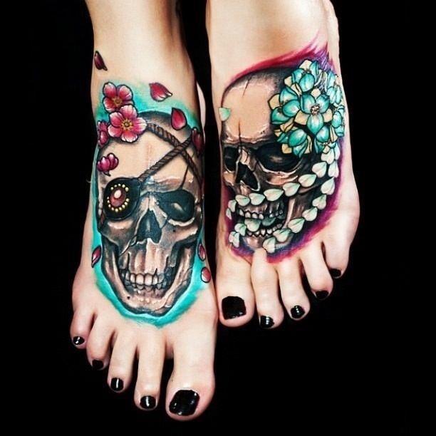 Foot Skull Tattoo