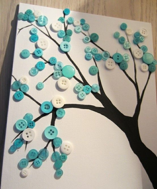 Wall Art Design Ideas 10 unusual wall art ideas Green Button Tree Wall Art