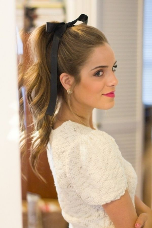 Surprising 12 Pretty Hairstyles With Ribbons Pretty Designs Hairstyles For Women Draintrainus