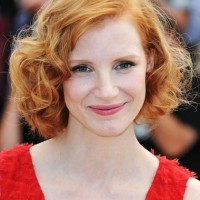 Jessica Chastain Curly Bob