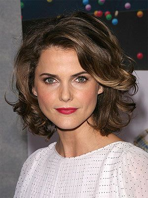 short curled hair styles 10 fresh curly bobs to try for winter pretty designs 4298 | Keri Russell Curly Bob with Deep Side Part