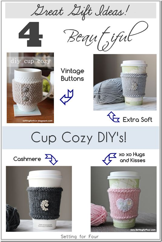 Knit Cup Cozy 10 Best DIY Ideas Pretty Designs The 100 Coffee Cups Image  Collections Www K5k.