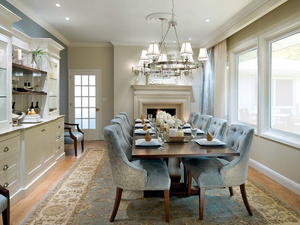 Light Blue Tufted Chairs