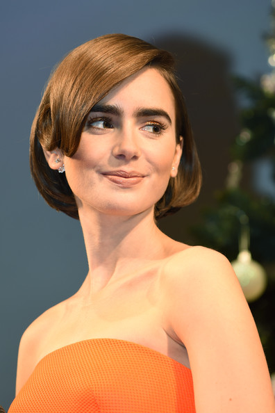 Lily Collins Brown Bob