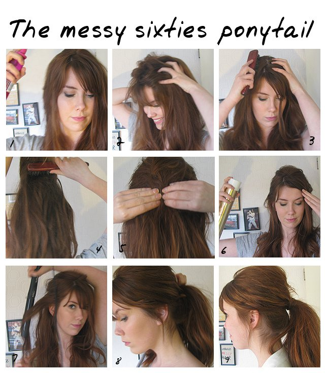 10 Pretty Ponytail Tutorials For The Week