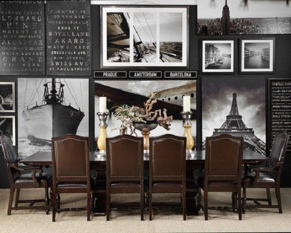 Modern Dining Room-Brown Color