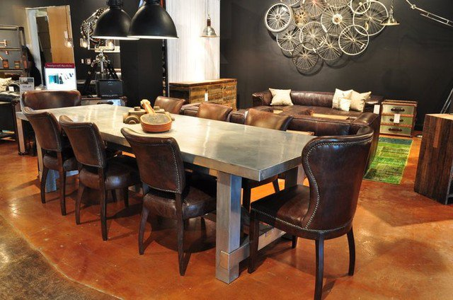 Modern Dining Room-Leather Chairs
