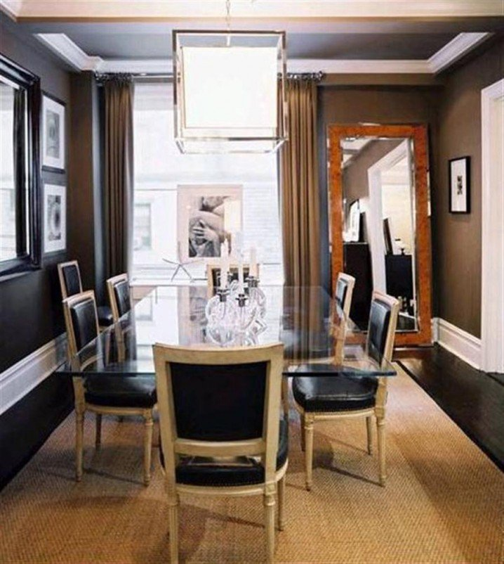 Modern Dining Room-Traditional Table and Chairs