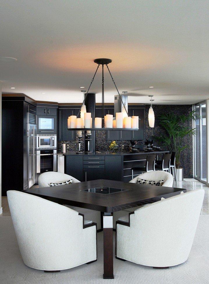 Modern Dining Room-White Sofa