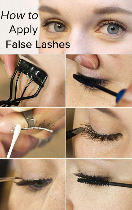 c5263e3486c How to Apply the False Eyelash - Pretty Designs