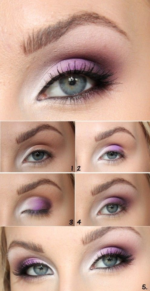 Ombre Purple Eye Makeup
