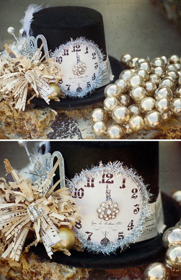 New year s eve decorating ideas pretty designs for Hat hanging ideas