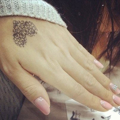 Pretty Heart Tattoo