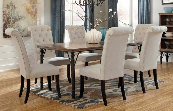 Pretty White Tufted Chairs