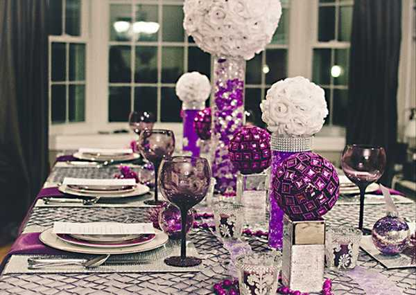 Purple Table Decoration