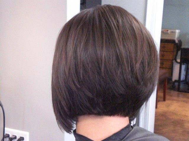 Simple Easy Stacked Bob Hairstyle for Women