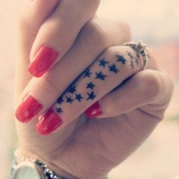 Star Tattoos on Finger