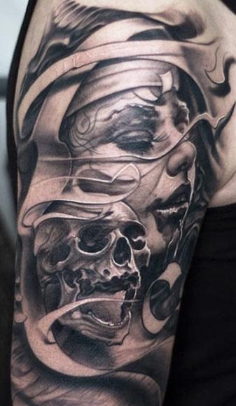 Stylish Skull Tattoo
