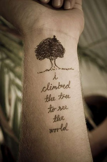 Tree and Word Tattoo