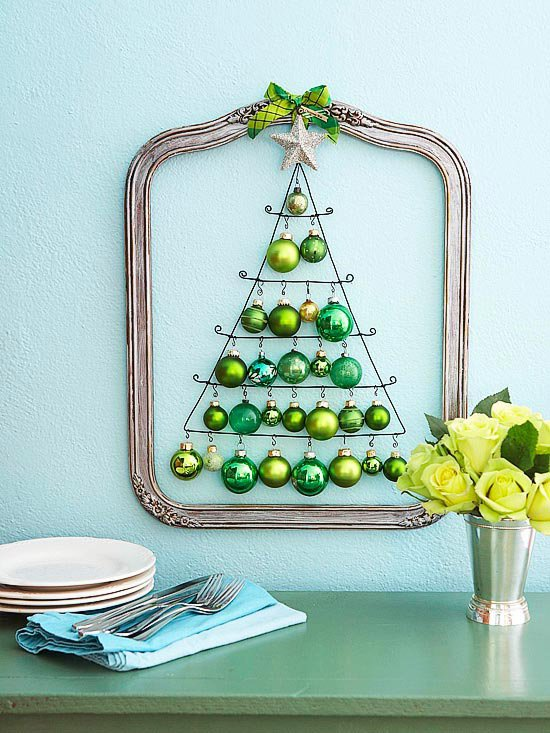 Decorating Ideas > Decorative Wall Christmas Tree Idea  Pretty Designs ~ 062332_Christmas Decorating Ideas Wall