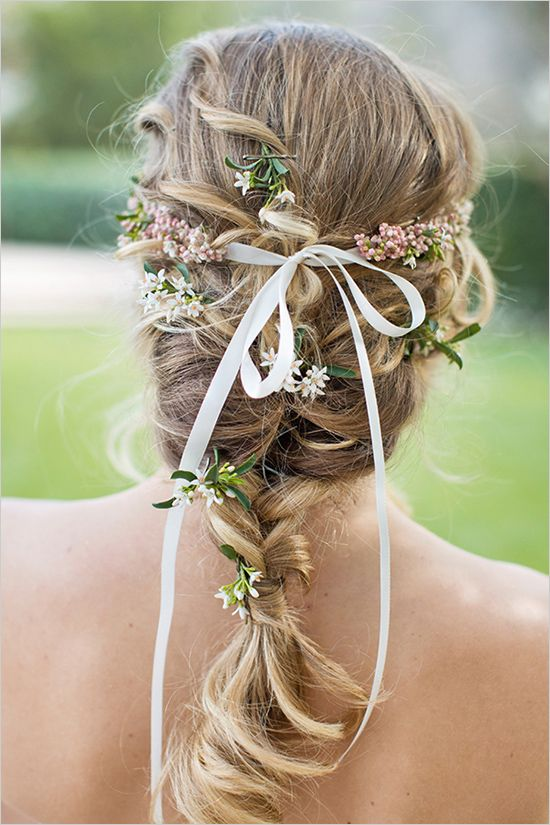 Wedding Braid with a Ribbon