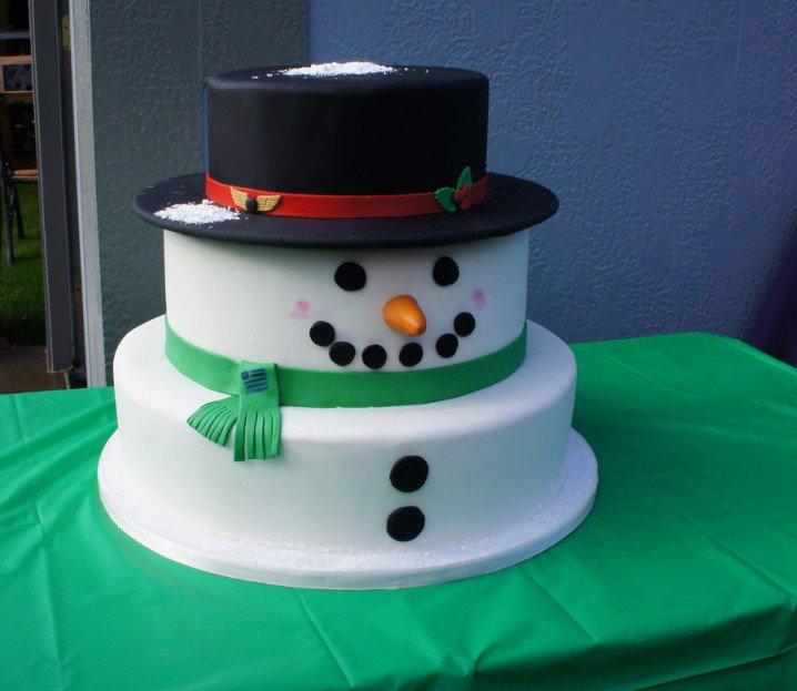 Pretty snowman cake ideas for christmas pretty designs for Snowman design ideas